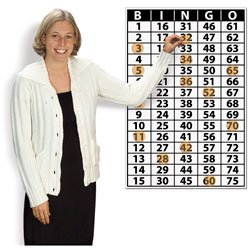 Nasco Vinyl Wall Chart Bingo Masterboard with Cling Markers - School and Senior Activity Products - SN01261