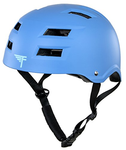 Flybar Protective Multi-Sport Adjustable Helmet with 12 Wide Vents (True Blue, Small / Medium)