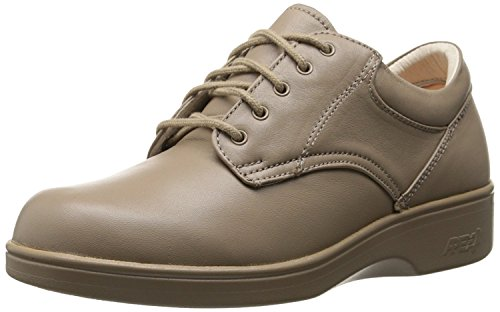 (Aetrex Women's Ambulator Conform Oxford Pedorthic Shoes,Taupe Smooth Leather,7.5 W)