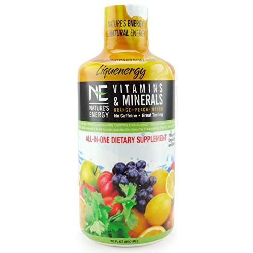 Nature's Energy All-in-One Vitamins & Minerals | Liquid Vitamin Supplement | 32 oz Bottle
