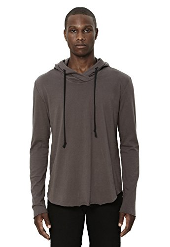 Uncommon Thrds Mens Raw Edge Hoodie Charcoal - X Large by UNCOMMON THRDS