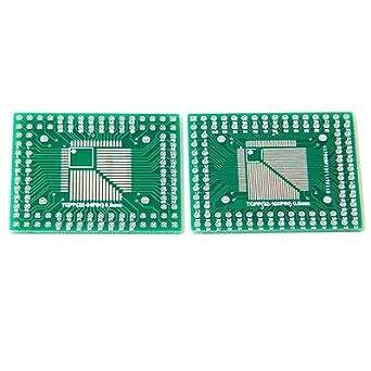 5Pcs Pcb Board Converter Adapter Dip Qfp//Tqfp//Lqfp//Fqfp 32//44//64//80//100 To Ne ve