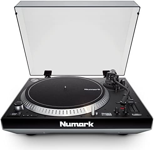 Numark NTX1000 Professional High-Torque Direct-Drive DJ Turntable with S-Shaped Tonearm, Pitch Fader Club-Ready Isolation Design