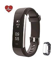 Kingsky Fitness Armband mit herzfrequenz Fitness Tracker mit Pulsmesser Wasserdicht IP67 Aktivit?tstracker Pulsuhren Bluetooth Smart Armbanduhr Schrittz?hler Damen