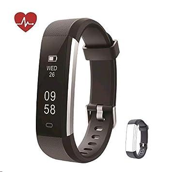 1f2238c555bc Huyeta Pulsera Actividad Fitness Tracker HR Pulsera Inteligentecon  Pulsómetro Pulsera Deportiva y Monitor de Ritmo Cardíaco Monitor de  Actividad ...