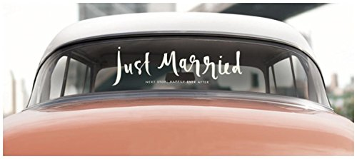 kate spade new york Window Cling, Just Married Decorate Just Married Car