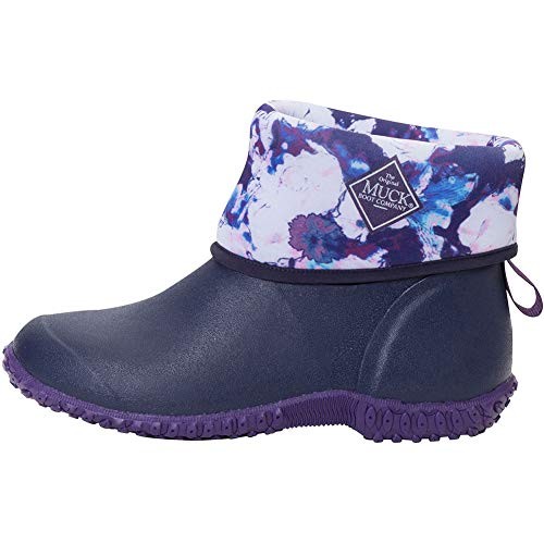 - Muck Boot Women's Muckster II Mid Ankle Boot, Blue/Multi Floral, 11 Medium US