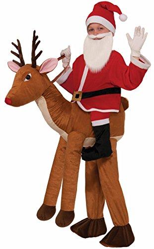 Forum Novelties Santa-Ride-A-Reindeer Child Costume - Santa Halloween