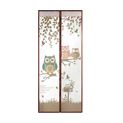 Screen Door Curtain Mosquito net Room Divider Bug Curtain Magic Wire mesh Anti mesh Patio Fly net Insect Fabric,Coffee,90x210 cm