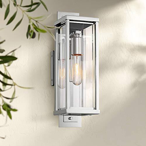Bixler Modern Outdoor Wall Light Fixture Stainless Steel Rectangular 15