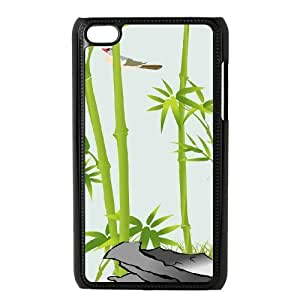 Bamboo Use Your Own Image Phone Case for Ipod Touch 4,customized case cover ygtg-334581