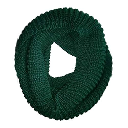 New Arrive Men Women's Nice Winter Warm Infinity 2Circle Cable Knit Cowl Neck Long Scarf Shawl,Green