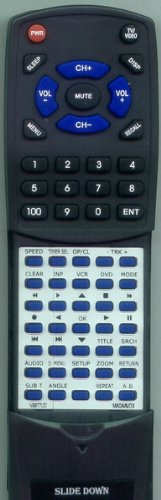 MAGNAVOX Replacement Remote Control for NB677, NB677UD, CDV220MW9, DV220MW9A, DV220MW9F7