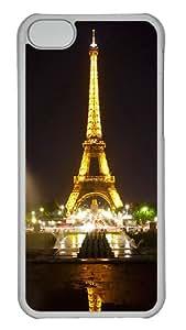 Apple iPhone 5C Cases, Apple iPhone 5C Case/Cover Designs Eiffel Tower Paris Night iPhone 5C Hard Case - Polycarbonate - Transparent