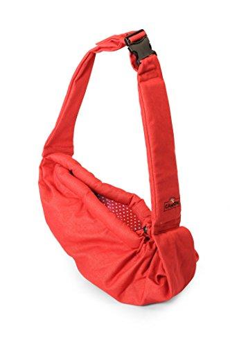 ''Denim'' pet shoulder bag Pet Sling Carrier Pet Tote Cat Dog Small Animal Pet Sling Messenger Style Pet Travel Carrier (RED) by ''Denim'' pet shoulder bag (Image #1)