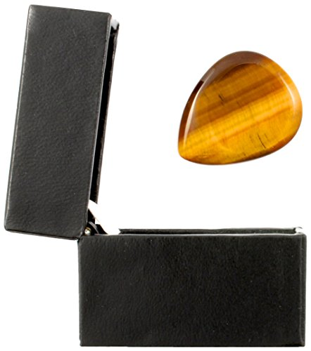 (Tiger Tones - Gold Tiger Eye - Individual Plectrum in a Gift Box)