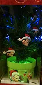 "Disney Mickey Mouse 18"" Fiber Optic Color Changing Christmas Tree"