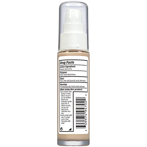 Almay Clear Complexion Make Myself Clear Makeup, Buff, Hypoallergenic, Dermatologist-tested, Non-Comedogenic (Won't Clog Pores), 1 fl. Oz.