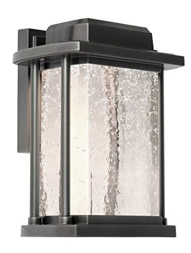Wall Sconces 1 Light Bulb Fixture with Slate Finish Cast Aluminum LED 10