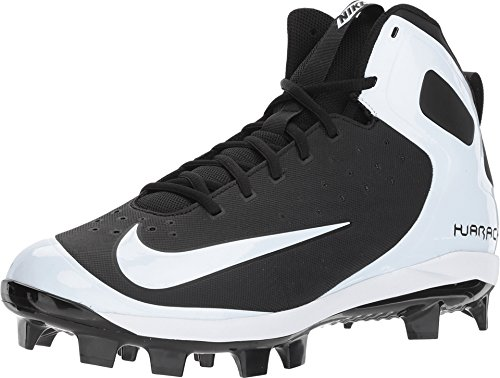 Nike Men's Alpha Huarache Pro Mid Baseball Cleats (7.5 M US, Black)
