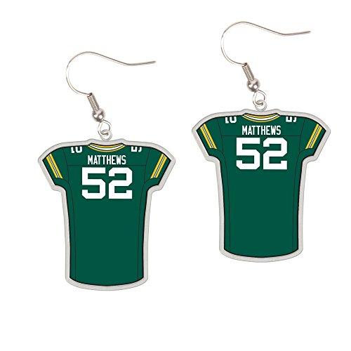 WinCraft Green Bay Packers #52 Clay Matthews Dangle Jersey - 52 Matthews Clay Green