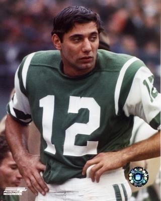 Joe Namath standing on sidelines - 8x10 NFL Photo (NY Jets) (Namath Photograph)