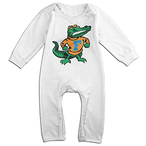 Price comparison product image OOKOO Baby's University Of Florida Gators Logo Bodysuits Outfits White 18 Months