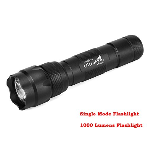 Ultrafire wf-502b Flashlight Tactical Flashlight 502B 1000 Lumens Single Mode EDC Emergency Flashlight 18650 Flashlight Bright LED Light 502b Portable Torch