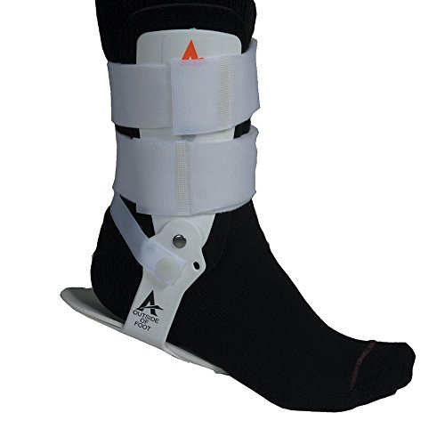 Active Ankle T1 Rigid Ankle Brace For Injured Ankle Protection and Sprain Support, L, White (Active For Volleyball Ankles T1)