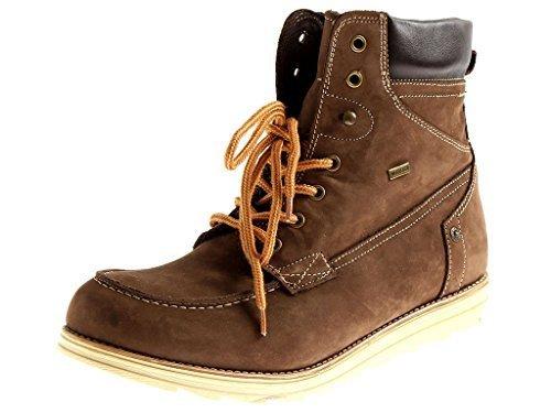 Lacci Marrone Stivali in Stivali Stone Stivali Stivali con Walk Pelle coi Lacci di 6160 Pelle OqpwcptZWR
