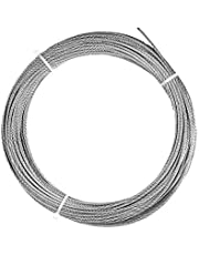 "Laureola 1/16"" Stainless Steel Aircraft Wire Rope, 304 Grade Cable, 7x7-100ft"