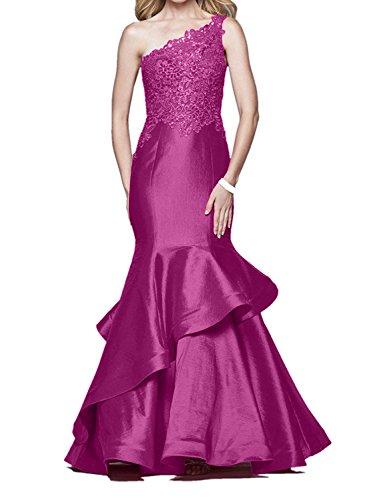 Spitze Pink Kleider Abendkleider Festlich Damen Rot etuikleider Charmant mit langes Figurbetont Ballkleider 4Px6Bq8w