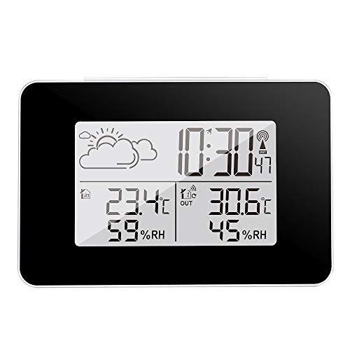 Alarm Clocks - Lcd Electronic Temperature Digital Thermometer Hygrometer Humidity Meter Weather Station Alarm - Loud Erature Play Analogue Electrical Voice Powered Display Wake Operated