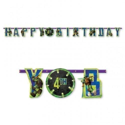 Teenage Mutant Ninja Turtles Party Jumbo Add An Age Happy Birthday Banner -