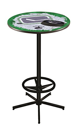 Holland Bar Stool Co. NHL Vancouver Canucks Officially Licensed Pub Table, 36