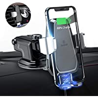 andobil Wireless Car Charger Mount, Automatic 10w Qi Fast...