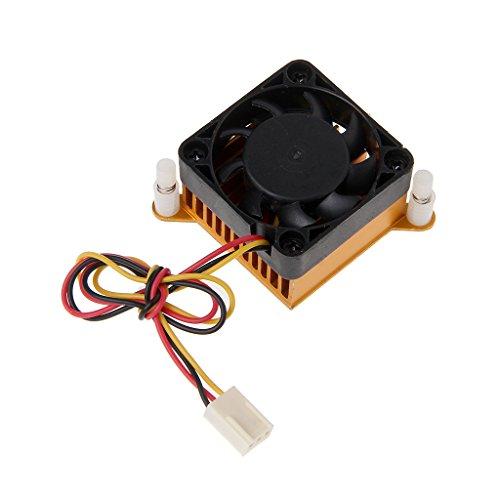 (yersty PC Northbridge Chipset Aluminium Cooler Heatsink 40mm Fan for 3D Printer Cooling)