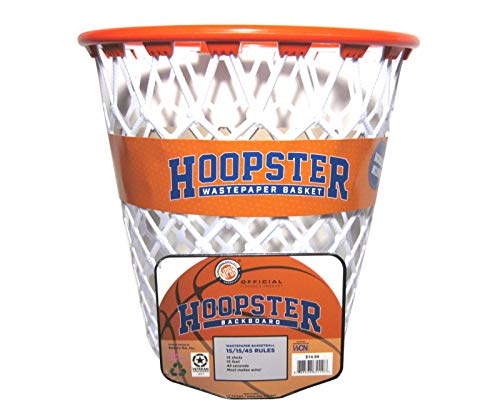 (Hoopster Waste Paper Basket Basketball Hoop Trash Can with Backboard)