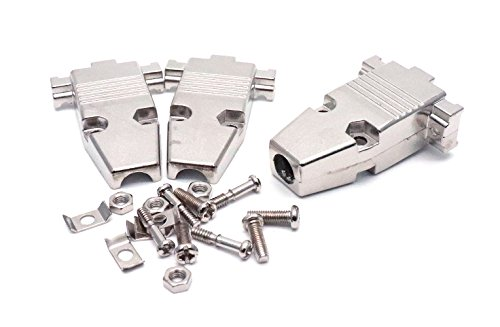 (ZXHAO Metal Cover Shell Housing DB9 9Pin Connector 10pcs)