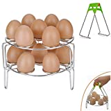 2018 New Steamer Racks, Stainless Steel Stackable Egg Steaming Rack Stand for Instant Pot 6qt/8qt Food Steamer Basket Stand Cookware Accessories Set With Kitchen Plate Gripper-3Packs