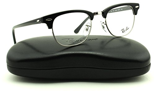 Ray-Ban RX5154 2000 Clubmaster Unisex Eyeglasses Shiny Black Frame - Ban Clubmaster Reading Glasses Ray