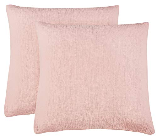 PHF Cotton Matelasse Weave Euro Sham Cover Pack of 2 26