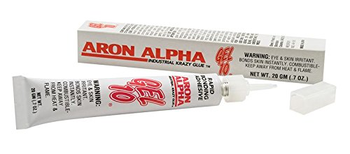 Aron Alpha Gel 10-Industrial Krazy Glue (20g Kit with 12 Tips)-Thick No-Drip Gel-Fast Set Instant Adhesive Super Glue by Aron Alpha Industrial Krazy Glue (Image #1)