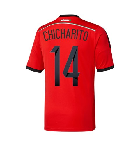 adidas CHICHARITO #14 Mexico Away Jersey World Cup 2014 Youth (Youth XLarge) Red