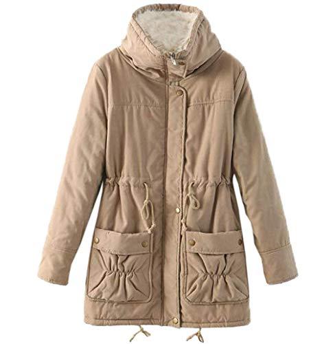 ulein Fox Coat Media Fr Cime Caldo Autunno Tops Lunga Cappotto Inverno Moda Parka Giacche Lunghezza Casual Soprabito Manica d51Pwq