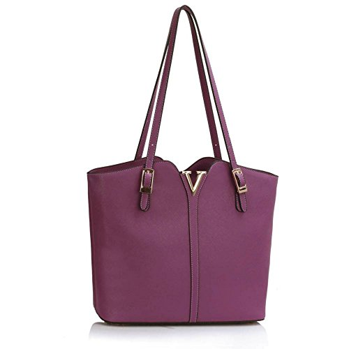 Bags Women's Tote 35x14x30cm Designer 00409 Shopper LeahWard Handbags Large Nice Purple Ladies Shoulder Oversize Bag HxqXwd