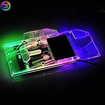 Amazon com: GPU Copper RBW LED Water Cooling Block for Asus RTX