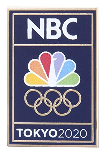 2020 Summer Olympics Tokyo Japan NBC Peacock and Rings Blue Lapel - Pin Button Olympic