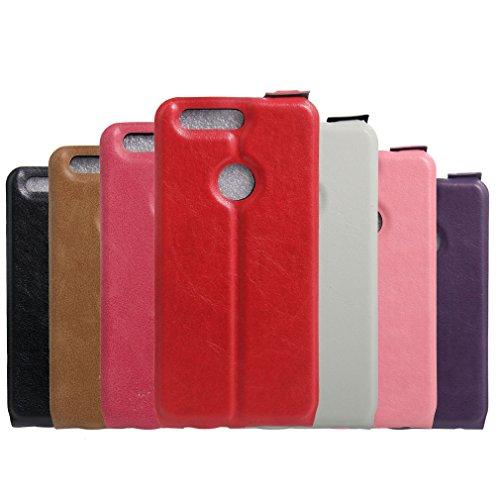 Funda Huawei Honor 8,Manyip Caja del teléfono del cuero,Protector de Pantalla de Slim Case Estilo Billetera con Ranuras para Tarjetas, Soporte Plegable, Cierre Magnético E