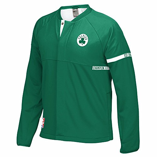 adidas Boston Celtics NBA Green 2016-17 Authentic On-Court Team Issued Pro Cut Warm Up Jacket For Men (Boston Celtics Warm Up Jacket)